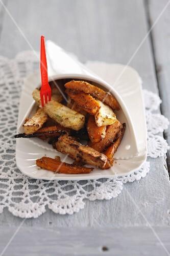 Fried cassava chips