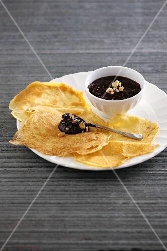 Crepés with hazelnut cream