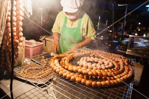 Food being made in a cookshop (Asia)