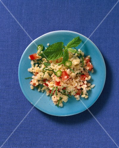 Tabbouleh with chilli and mint