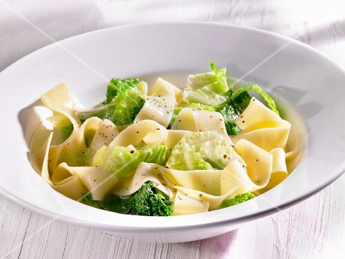 Pappardelle with savoy cabbage