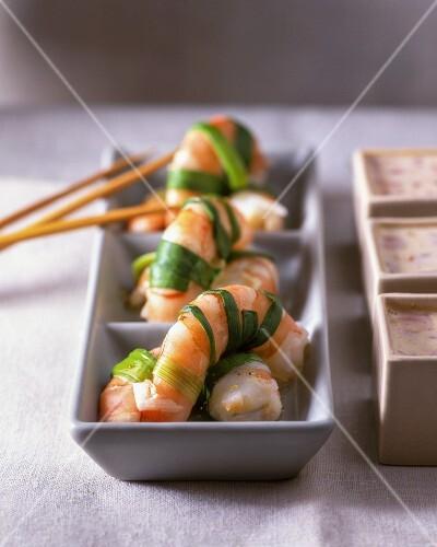 prawns with dip