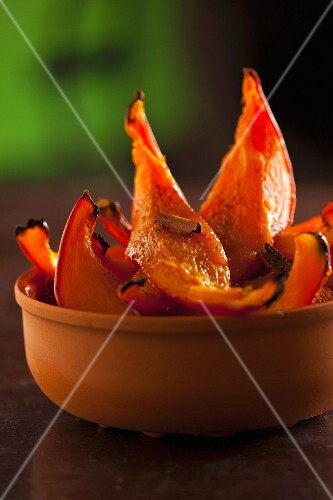 Oven-roasted pumpkin