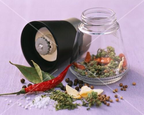 A spice mixture with piri piri