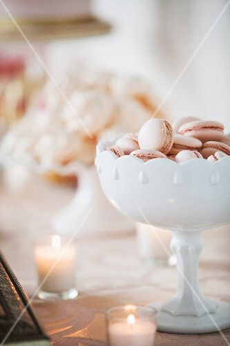 Pink macaroons for a wedding buffet