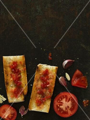 Spanish tomato bread with garlic