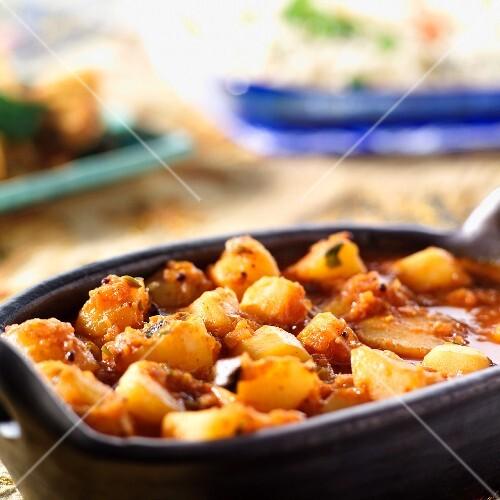 Spicy potato curry (India)