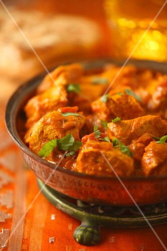 Chicken tikka (chicken curry, India)