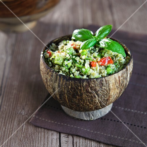 Tabbouleh with green chickpeas