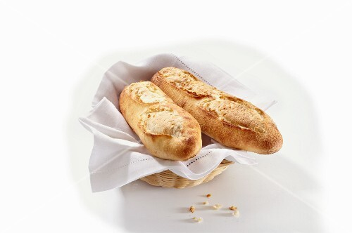 Baguettes in a bread basket