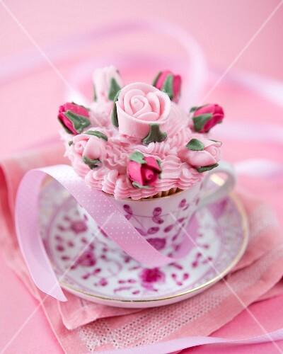 A rose cupcakes
