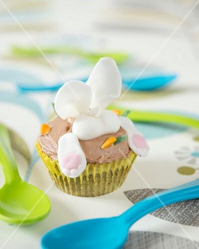 A rabbit cupcake