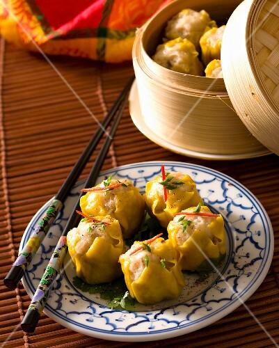 Steamed pork dumplings (Asia)