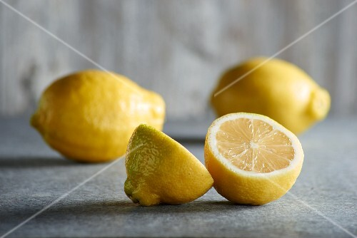 Lemons, two whole and one half