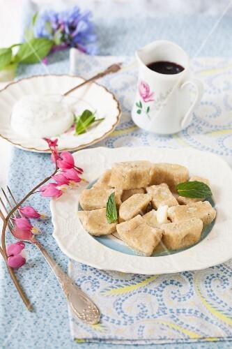 Lenivie Vareniki (Russian vanilla and ricotta dumplings made with wholemeal flour)