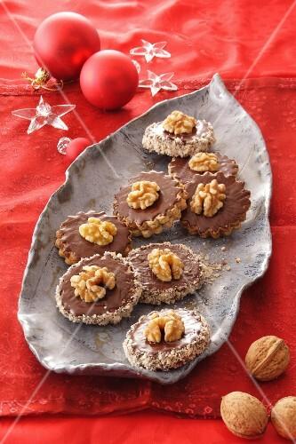 Stuffed walnut pralines