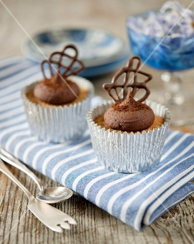 Chocolate cappuccino cupcakes