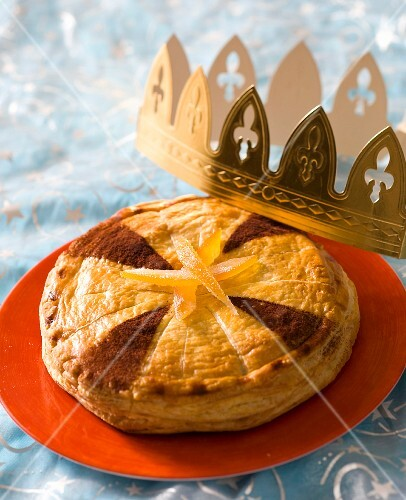 Galette des Rois: Three King's cake with oranges and chocolate