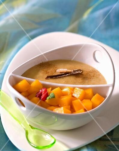 Cinnamon cream with mango