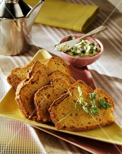 Tuna fish bread with coriander