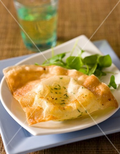 Filo pastries filled with potatoes and tuna fish