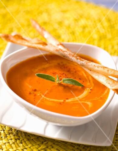 Iced cream of tomato soup