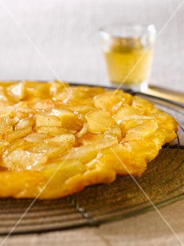 Caramelized pear thin Tatin tart
