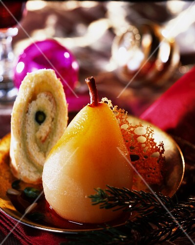 A candied pear