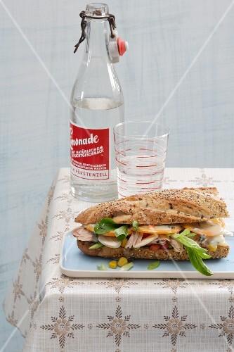 Tuna fish baguette with Gorgonzola