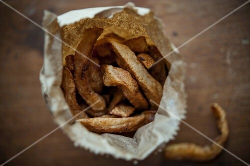 Chips in paper bags