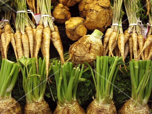 Celeriac and parsley root