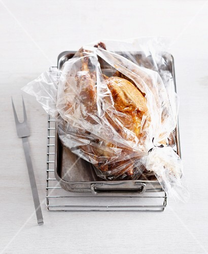 Chicken in a roasting bag