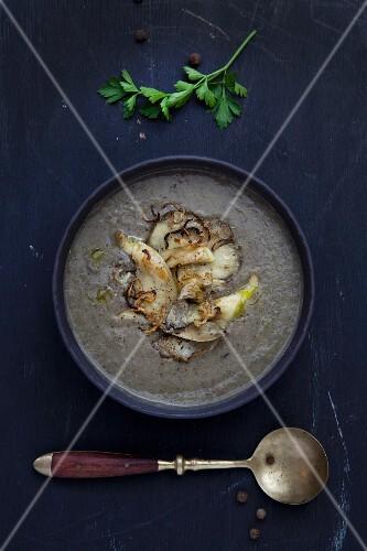 Potato soup with mushrooms