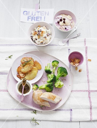 A day's food for a gluten-free diet