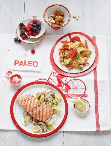 A day's food on the Paleo diet