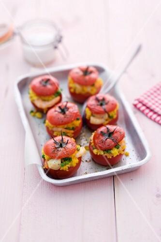 Oven-roasted paella tomatoes