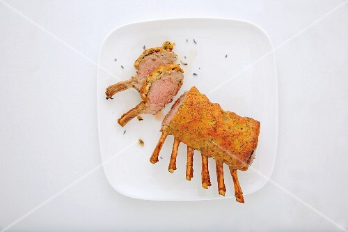 Rack of lamb with a spiced lavender crust