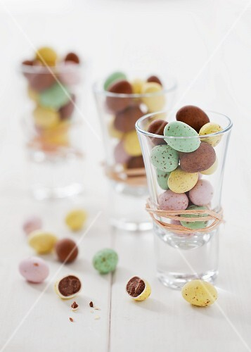 Chocolate-filled egg sweets