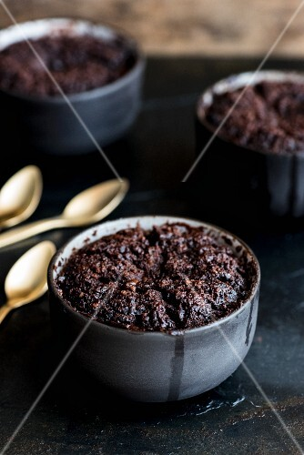 English chocolate and coffee pudding