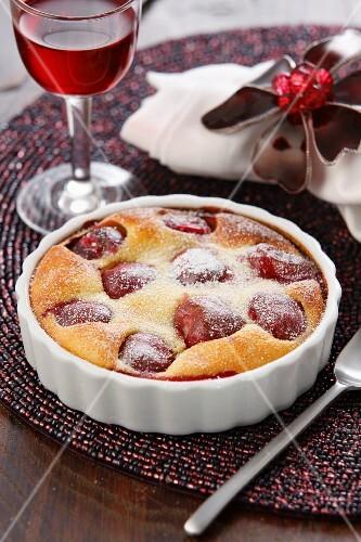 A small cherry tart