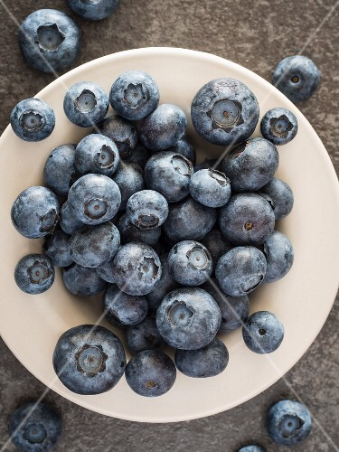 A plate of fresh blueberries (seen above)