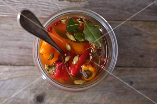 Marinated peppers