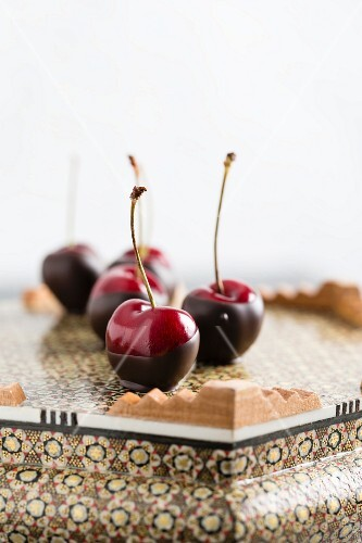 Chocolate-coated cherries
