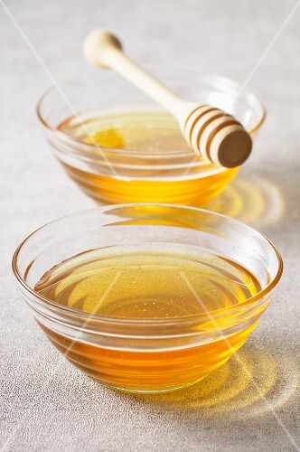 Two bowls of honey
