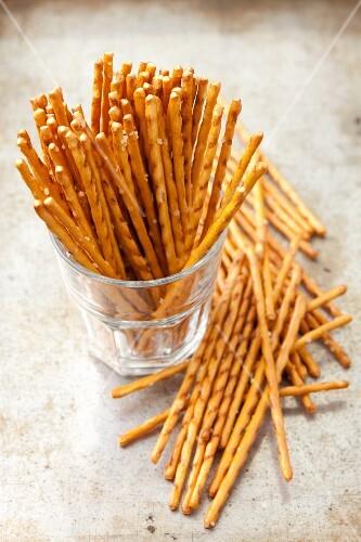 Salty sticks in a glass