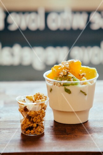 Muesli with fruit and cereals