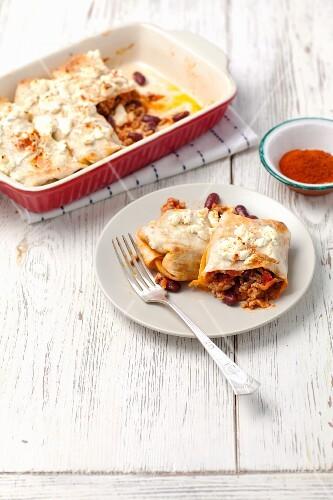 Gratinated enchiladas