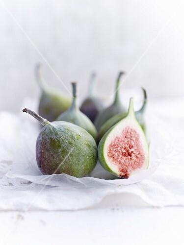 Fresh figs, one sliced