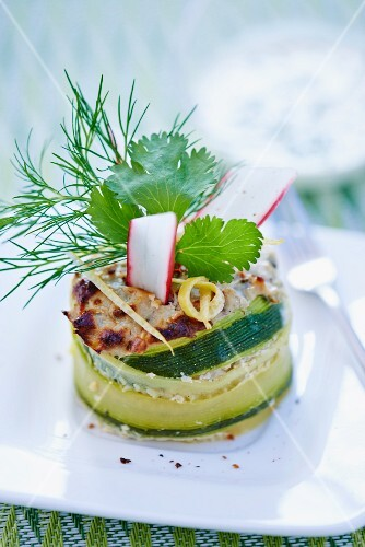A courgette wrap filled with sardines
