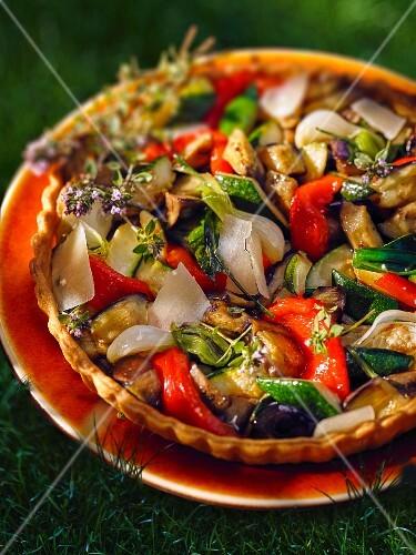 Mediterranean vegetable tart